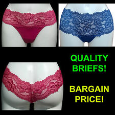 Sexy Ladies Brazilian Floral Lace Band Thong Knickers Briefs Size 10-16 Womens