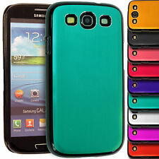 Brushed Metal Hard Back Case Aluminum Grip Cover for Samsung Galaxy S3 i9300
