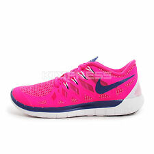 WMNS Nike Free 5.0 [642199-641] Running Hyper Pink/Deep Royal Blue-White