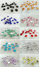50pcs Round Shaped 12mm Flatbacks Acrylic Rhinestones Gem Scrapbooking Beads