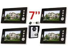 Wireless 7'' Video Door Phone Audio Visual Intercom Remote Entry System