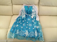 Disney Frozen Princess Elsa Fancy Dress Costume All Ages NEW **LOOK**