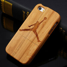 New Real Jordan Natural Wood Bamboo Hard Case Cover for Apple Iphone5 5S 5G 4 4G