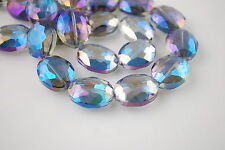 Bulk Glass Crystal Flat Oval Spacer Beads Craft Jewelry Finding 20x16mm Charms
