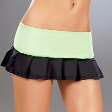 New 5004 Hot Green PLEATED DANCE ROLLER MICRO MINI Short SKIRT RAVE Sexy S M L
