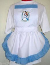 GIRLS KIDS ALICE IN WONDERLAND CHARACTER APRON Design pick characters size +trim