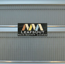 "LeafsOut Micro Mesh 5"" DIY Rain Gutter Guard Leaf Screen Cover Filter System"
