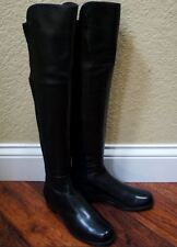 $680 NWB 5050 Stuart Weitzman Boots Over The Knee OTK Black Leather 6/6.5/9/9.5M