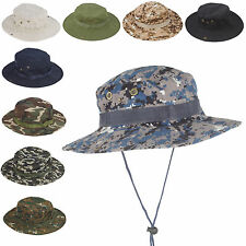 Men's Outdoor Bush Boonie Caps Jungle Camo Bucket Fishing Hats