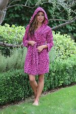 Plush Ladies Robes Women Robe PINK Hoody Robe Hoodie Robe Short Hooded Robe