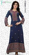 Trendy Kaftan Soft Printed Abaya, Maxi Dress Plus Sizes Small to 6XL -TFMKF1320