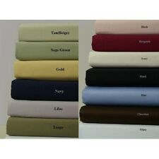 Whole Sale 1000TC Full Extra Long 100%Cotton 4-Piece Sheet Set  Solid All Color