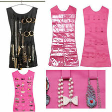 New Women Jewelry Dress Hanging Brooch Bag Closet Display Holder Storage Pockets