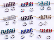 100pcs Basketball wives Rhinestone Round Spacer Crystal Finding Beads 8mm