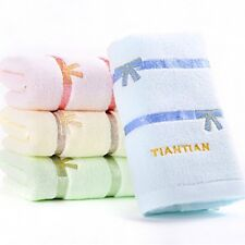 MMY Cotton Hand Face Towels Solid Soft Cozy Embroidered Towels Beauty Washcloths