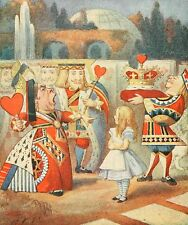 John Tenniel Alice in Wonderland and the Queen of Hearts Vintage Repro Print
