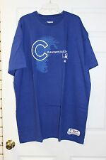 Chicago Cubs Royal Blue/White Authentic Majestic T-Shirt Big Cubs Logo