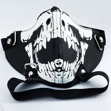 Punk Man-made Leather Mouth Muffle Mask Dust Filter Leash Bondage Restraints