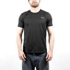 PUMA MENS BASIC TECH TEE BLACK TEE 505569 02 T145