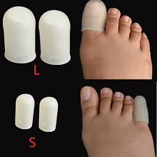 1 Pair Silicone Soft Gel Toe Cap Absorbs Pressure Toes Toe pain sets Foot Care