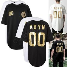 New Gold Metallic ADYN 00 Print Graphic Short Sleeve Jersey Tee T-shirt Victory