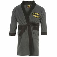 Boys Batman ~ Fleece ~ Dressing Gown/Robe Ages 3-4 To 11-12 Years