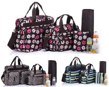 New Fashion 5pcs Baby Diaper Nappy Changing Tote Satchel Bag Set--BS005
