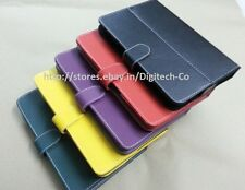 """Leather Carry Case Flip Book Cover Stand Pouch For DELL Venue7 Venue7 7"""" Tablet"""