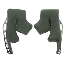 Shoei 3D3A Green Grey Cheek Pads for X-Spirit Helmet Cushions Spare Inserts