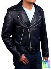 Ghost Rider Mens Black Faux/PU Leather Biker Jacket as worn by Nicolas Cage 1055