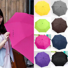 New Portable Windproof Waterproof Mini Compact Folding Triple folding Umbrella