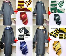 Harry Potter Adult Gryffindor/Slytherin/Hufflepuff/Ravenclaw RobeCloak Scarf Tie