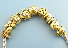 Wholesale Lots Mixed Gold Tone European Charms Beads Fit Charm Bracelet