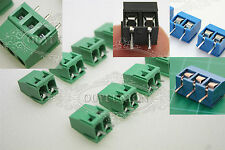 2 pin 3 Pin Plug-in Screw Terminal Block Connector 5.08mm Pitch Panel PCB Mount