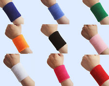 1 pair Unisex Sports Cotton Sweat Band Sweatband Wristband Wrist Band WF@#CA-36