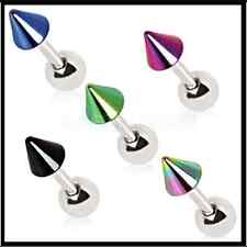 316L Surgical Steel Cartilage / Tragus Earring With Titanium Anodized Spike