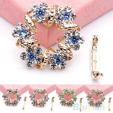 Antique Korean Brooch Jewelry Luxury Rhinestone Garland Scarf Clip Brooches Pin