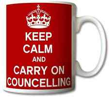 KEEP CALM AND CARRY ON COUNSELING GIFT/PRESENT MUG/CUP