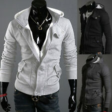 New Fashion Men's Slim Fit Top Designed Hoodie Cardigan Jacket Coats
