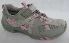 BNIB Clarks Girls Abbie Spin Grey Leather Active Air Trainers G Fitting