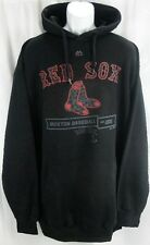 Boston Red Sox MLB Majestic Black Hood Scrape Hoodie Men Big And Tall Sizes