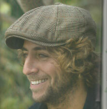 BROWN PLAID NEWBOY HAT BY CONNER HATS