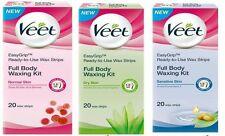 Veet Cold Easy Grip Wax Strips For Sensetive Normal & Dry Skin 20 wax strips