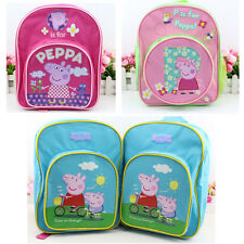 Lovely Peppa Pig George School Bag Rucksack Backpack Kids Baby Gift 3 Colors