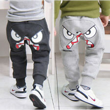 Fashion Kids Boys Girl Unique Clothes Harem Pants Trousers Cartoon Kids Sz2-7Y