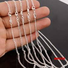 "HOT Wholesale lots 5pcs 925 Sterling Silver 2MM Curb Chain Necklace 16""-30"""
