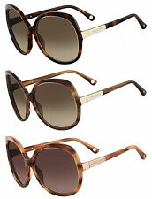 Michael Kors Women's MKS294 Adrianna Round Brown Shaded Sunglasses w/ Carry Case