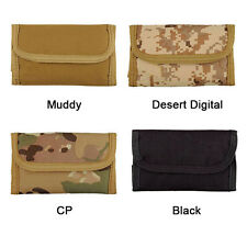 Deluxe Tri-Fold ID Military Tactical Wallet Velcro Strap Army Bag Hook Loop Bag