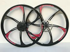 MAGNESIUM ALLOY WHEELS FRONT & REAR MOUNTAIN BIKE WITH CASSETTE  26 INCH NEW