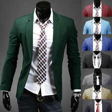 Fashion New Mens Slim Fit Stylish Casual One Button Suit Coat Jacket Blazers